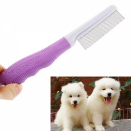 Purple Flea Comb for Dog Cat Pet