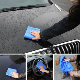 66 x 43 x 0.2cm Super Absorption Multifunctional Microfiber Car Care Towel Pet Cleaning Washing Towel Random Color L