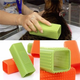 Hot-selling Pet Dog Puppy Cat Bath Brush Comb Soft Silicone Sticky Hair Removal Tool Orange