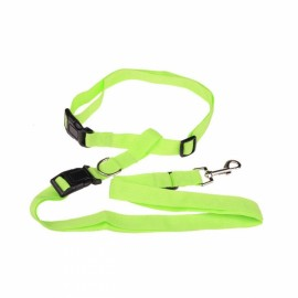 Morning Running Use Pet Dog Leash Running Jogging Puppy Dog Lead Collar Green