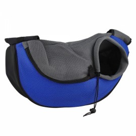 Pet Carrying Cat Dog Puppy Small Animal Sling Front Carrier S/ Blue