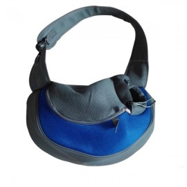 Pet Carrying Cat Dog Puppy Small Animal Sling Front Carrier L/ Blue