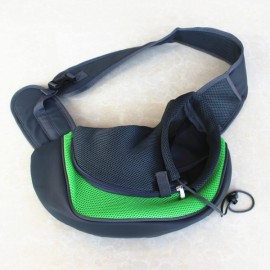 Pet Carrying Cat Dog Puppy Small Animal Sling Front Carrier L/ Green