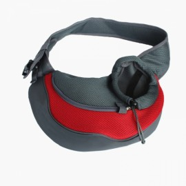 Pet Carrying Cat Dog Puppy Small Animal Sling Front Carrier S/ Red