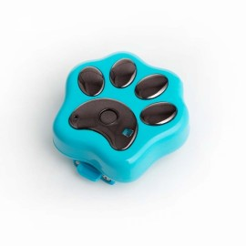 RF-V30 Smart Mini Finder GPS Tracker For Pets Trajectory Playback Geo-fence Dog Pet GPS Tracker - Blue