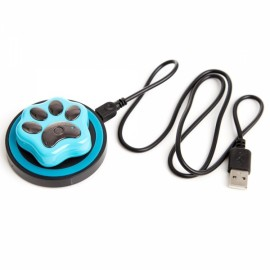 RF-V32 Mini Waterproof WiFi Anti-Lost Smart GPS GSM Pet Tracker with Wireless Charger - Blue