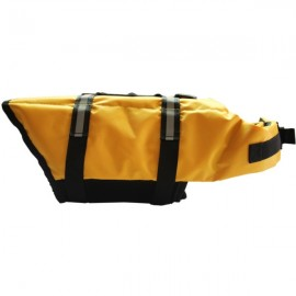 Dog Life Jacket Vest Saver Safety Swimsuit Preserver with Reflective Stripes - Yellow & Size S