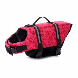 Dog Life Jacket Vest Saver Safety Swimsuit Preserver with Reflective Stripes - Pink & Size XL