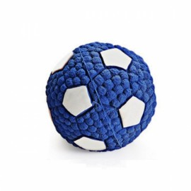 Soft Bouncing Latex Squeaky Floating Toy Fetch Throw Ball For Dog - 9.5cm Football