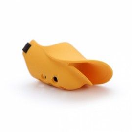 Silicone Anti Bite Duck Mouth Shape Dog Mouth Covers Anti-Called Muzzle Masks - Yellow & Size L