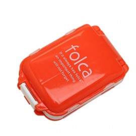 Portable Foldable Medicine Cosmetic Earring Makeup Dispenser Container Storage Pill Vitamin Box Case Orange