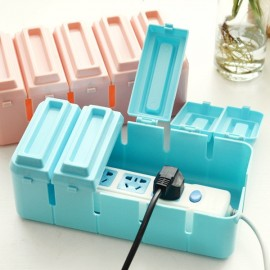 Chocolate Shape Candy Color Style Power Strip Arrangement Box Cable Storage Box Random Color