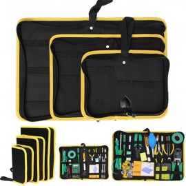 Heavy Duty Repair Tool Zip Closure Organizer Tool Storage Bag Black & Yellow M