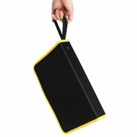 Heavy Duty Repair Tool Zip Closure Organizer Tool Storage Bag Black & Yellow S