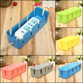 Anti-dust Safe Socket Board Cables Storage Box with Heat Dissipation Holes Random Color