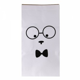 Kids Kraft Paper Cute Animal Pattern Cartoon Storage Paperbag 6# Gentle Man