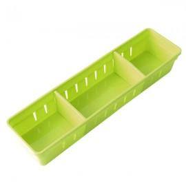 3 Grids Design Plastic Drawers Home Kitchen Jewelry Storage Box S Green