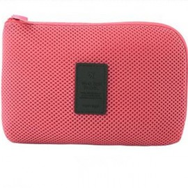 Travel Shockproof Protective Storage Pouch Bag for Cable Charger Hard Disk Red L