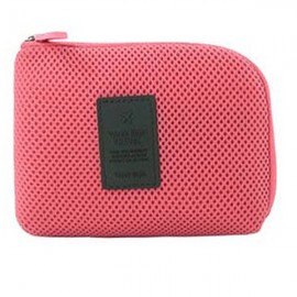 Travel Shockproof Protective Storage Pouch Bag for Cable Charger Hard Disk Red S