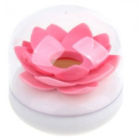 Lotus Shape Cotton Swab Holder Toothpick Storage Box Cotton Bud Case Pink