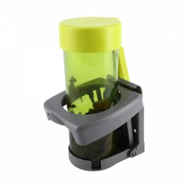 Universal Car Folding Beverage Drink Bottle Cup Mount Holder Stand Gray