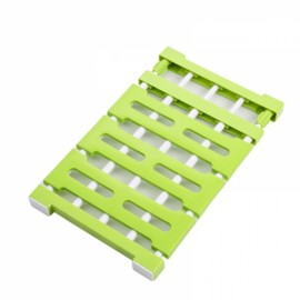 Multifunctional Telescopic Layered Rack Stainless Steel Storage Rack Wardrobe Holder Green M