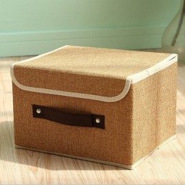 Foldable Fabric Storage Organizer Large Capacity Bra Toys Container Khaki