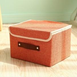 Foldable Fabric Storage Organizer Large Capacity Bra Toys Container Orange