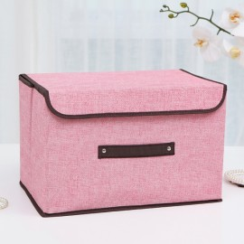 Foldable Fabric Storage Organizer Large Capacity Bra Toys Container Pink