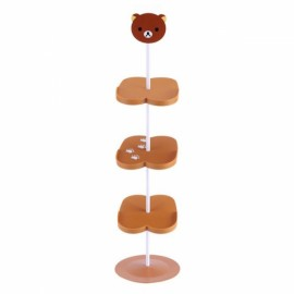 Children Cartoon Animal Pattern Stand Style Shoe Rack  - Brown Bear