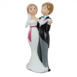 Cute Bride & Groom Dancing Doll Figurine Wedding Decoration