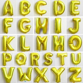 "32""Alphabet Letter Foil Balloon Birthday Party Wedding Decoration V Golden"
