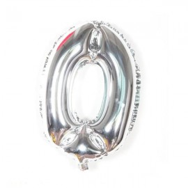 "32"" Number Figure Foil Balloons Digit Air Ballons Birthday Party Wedding Decoration 0 Silver"