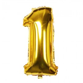 "32"" Number Figure Foil Balloons Digit Air Ballons Birthday Party Wedding Decoration 1 Golden"