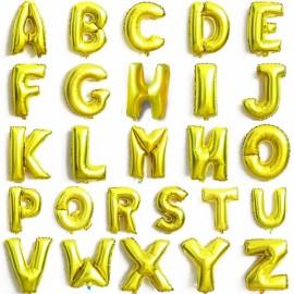 "32""Alphabet Letter Foil Balloon Birthday Party Wedding Decoration X Golden"