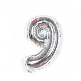 "32"" Number Figure Foil Balloons Digit Air Ballons Birthday Party Wedding Decoration 9 Silver"