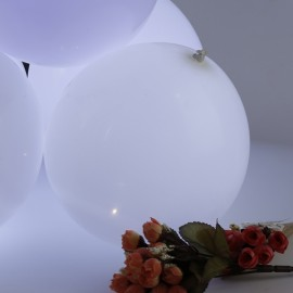 5pcs 12 Inch LED Light Balloons White for Wedding and Party Decoration White