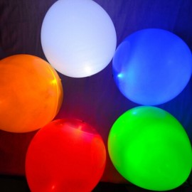 5pcs 12 Inch LED Light Balloons random Color for Wedding and Party Colorful