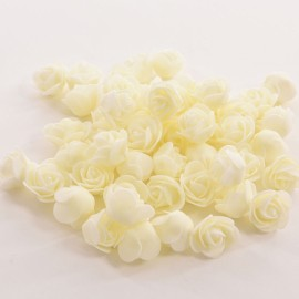 50pcs Artificial Rose PE Foam Flowers Design Wedding Party Home Decoration Milky White