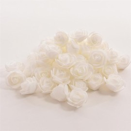 50pcs Artificial Rose PE Foam Flowers Design Wedding Party Home Decoration White