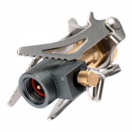 45g Ultra Light Mini Outdoor Camping Foldable Pocket Gas Stove Pot Burner 3000W Silver & Golden