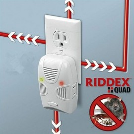 RIDDEX Quad Ultrasonic Electromagnetic Wave Mosquito Pest Repellent (EU Plug) White