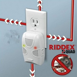 RIDDEX Quad Ultrasonic Electromagnetic Wave Mosquito Pest Repellent (US Plug) White