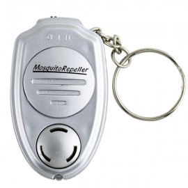 Ultrasonic Electronic Pest Mosquito Repeller Keychain Silver