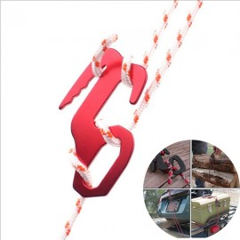 10pcs High Quality Aluminum Alloy Tent Axeman Paracord Buckle Rope Puller Adjustable Outdoor Equipment Travel Kit Red