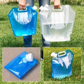 10L Portable Folding Water Bag Water Carrier Storage Lifting Bag for Outdoor Use White