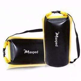 Maxped Outdoor Travel Caming Hike Sports 25L Double Shoulders Multifunctional Drift Large Waterproof Bag Yellow & Black