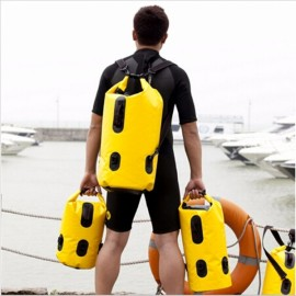 Maxped Outdoor Travel Caming Hike Sports 35L Double Shoulders Multifunctional Drift Large Waterproof Bag Yellow & Black