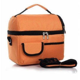 Dual-layer Thickened Insulated Cooler Bag Ice Bag Lunch Picnic Bag Orange