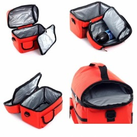 Dual-layer Thickened Insulated Cooler Bag Ice Bag Lunch Picnic Bag Red